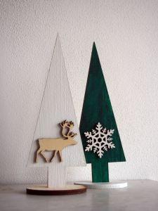 Vánoční dřevěná dekorace stromky