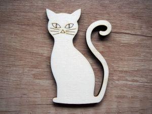 Výřez z překližky kočka
