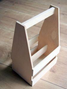 Dřevěný nosič na 6piv s otvírákem a gravírováním
