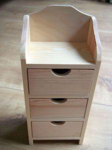 Dřevěná šperkovnice se třemi šuplíčky 33x9x14cm