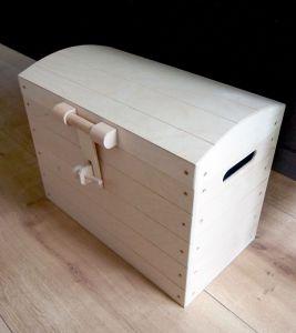 Dřevěná truhla 48x26x35cm