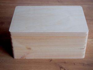 Dřevěný box s výklopným víkem 30x20x13,5cm
