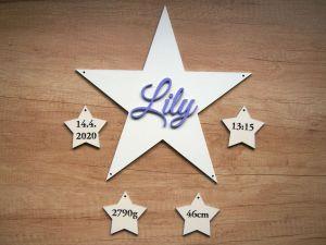 Hvězda se jménem a porodními údaji