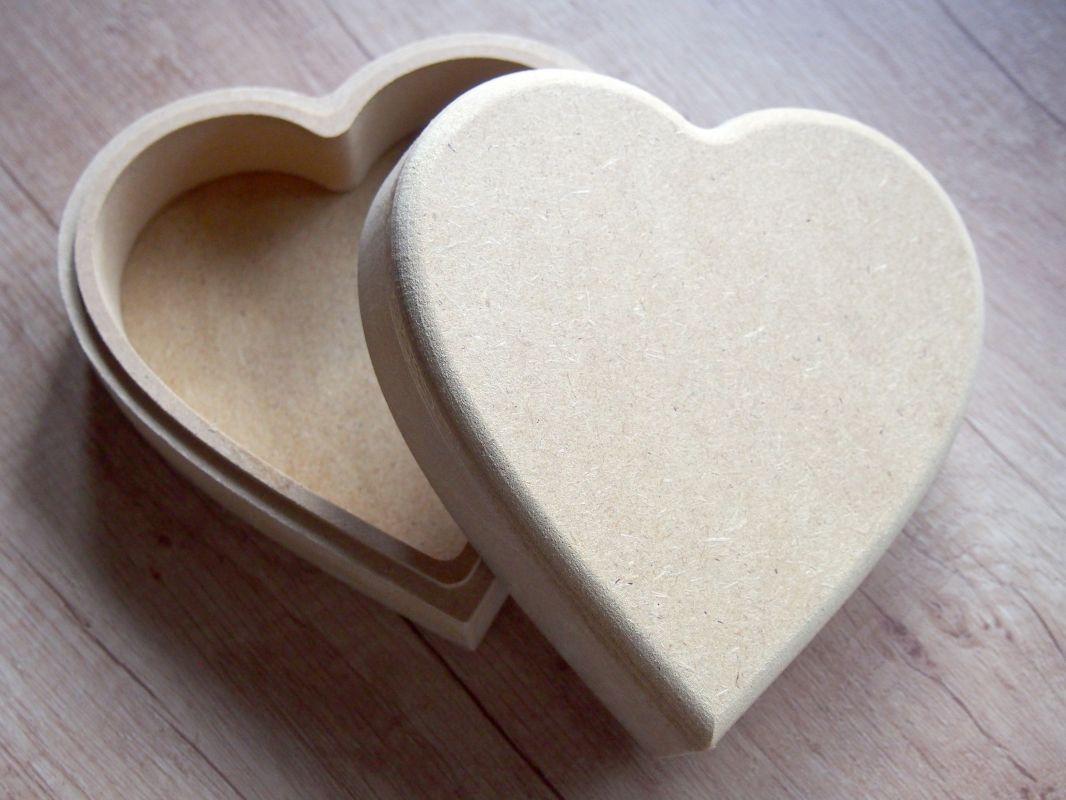 Krabička z MDF srdce