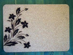 Set korkového prostírání a podtácku květiny