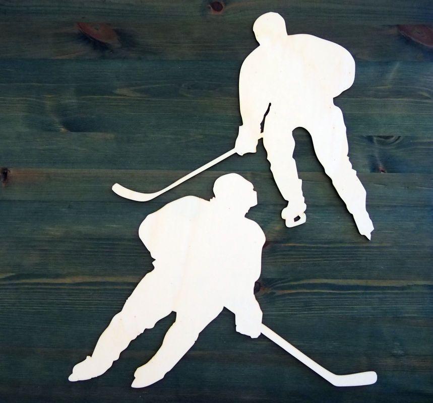 Výřezy z překližky 2 hokejisté