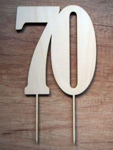 Zápich na dort číslice