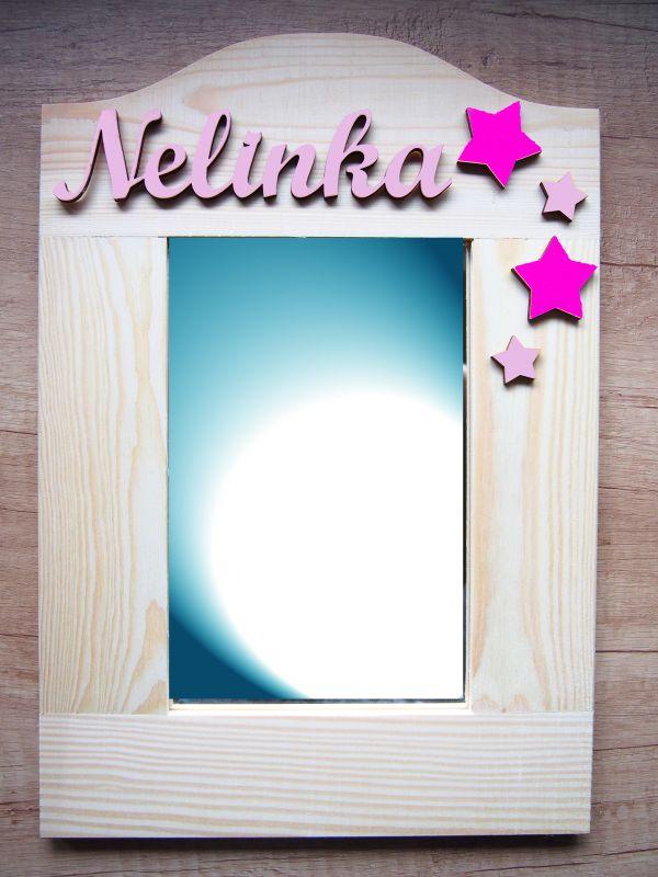 Zrcadlo pro holčičky se jménem a hvězdami