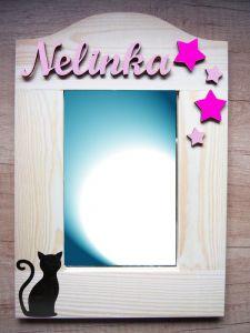 Zrcadlo pro holčičky se jménem a kočkou