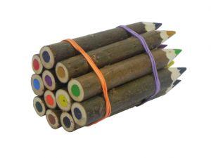 12 dřevěných pastelek