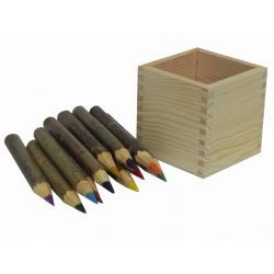 12 dřevěných pastelek v krabičce