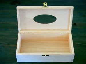 Dřevěná krabička na papírové kapesníky barevná s baletkou