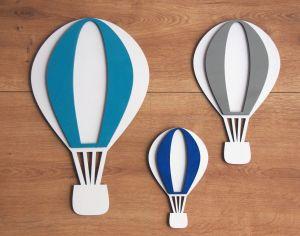 Dřevěná dekorace horkovzdušný balon