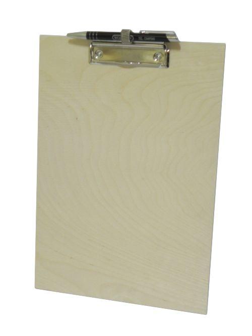 dřevěná deska s klipsem A4