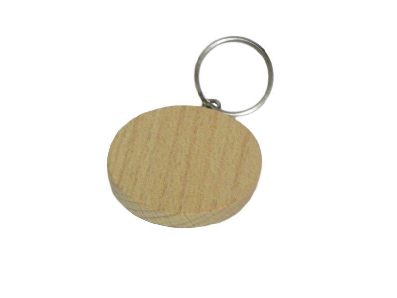 Dřevěná klíčenka z bukového dřeva kulatá