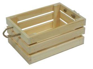 Dřevěná bedýnka- dekorace 21x10cm