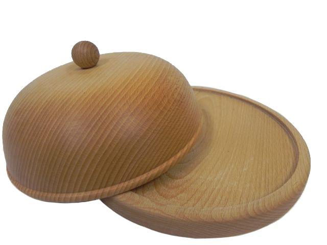 Dřevěná máselnička