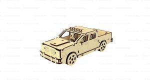 Dřevěné 3D puzzle, skládačka dodge