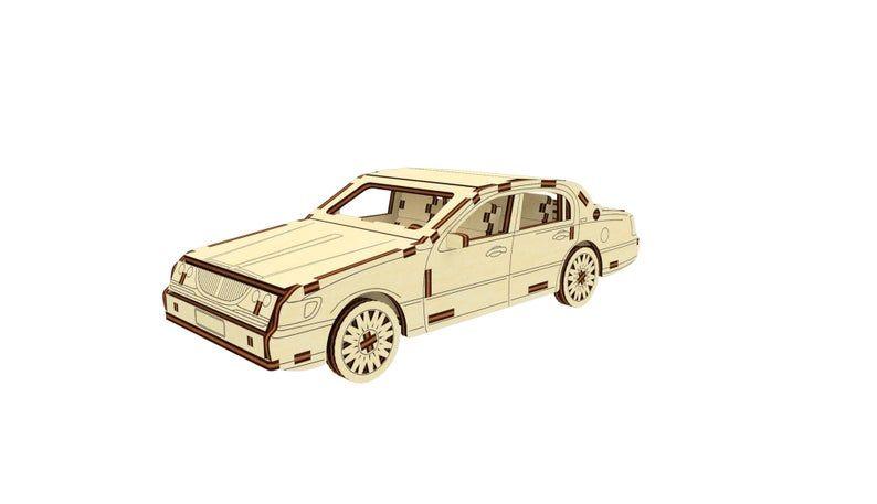 Dřevěné 3D puzzle, skládačka lincoln