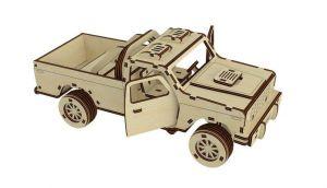 Dřevěné 3D puzzle, skládačka monster