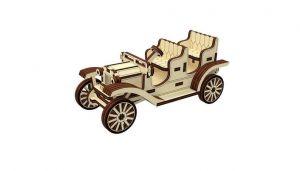 Dřevěné 3D puzzle, skládačka old car