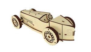 Dřevěné 3D puzzle, skládačka old sport car