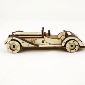 Dřevěné 3D puzzle, skládačka retro car