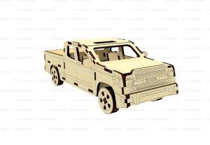 Dřevěné 3D puzzle, skládačka TOYOTA