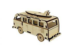 Dřevěné 3D puzzle, skládačka volkswagen