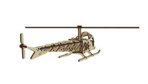 Dřevěné 3D puzzle, skládačka vrtulník