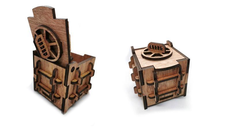 Dřevěný trezorek