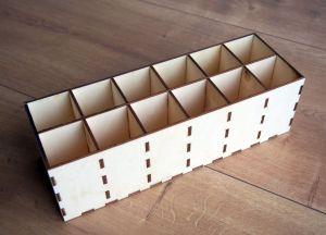 Organizér 12 přihrádek 6x5x10cm