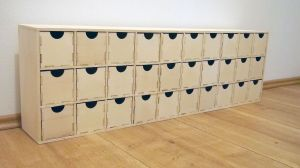 Velký organizér/komoda se 30 šuplíky 10x10x15cm