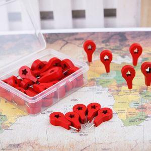 Špendlíky ke korkovým mapám 40 kusů