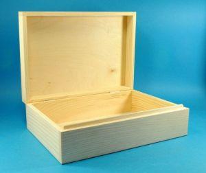 Dřevěný box s výklopným víkem 30x20x9,5