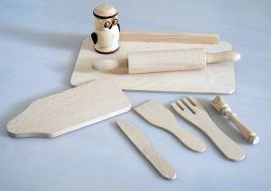 Dřevěný dětský set malý kuchař