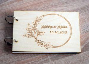 Fotoalbum/kniha hostů s dřevěnými deskami na míru  | A5, A4