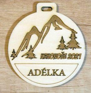 Medaile dřevěná na míru