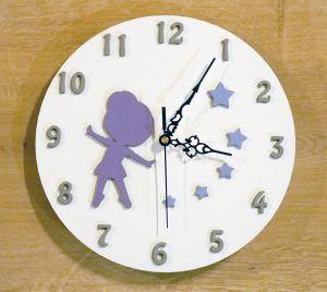 Nástěnné dětské hodiny s baletkou