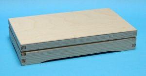 Obdélníková krabička2 na čokoládu, bankovky 19x12x4,5 cm